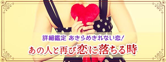 詳細鑑定◆あきらめきれない恋!あの人と再び恋に落ちる時(プレミアム占い)