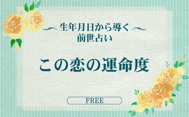 生年月日から導く前世占い 「この恋の運命度」【無料占い】